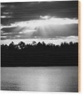 Bold Rays Monochrome Wood Print