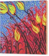 Bold Tulips Wood Print