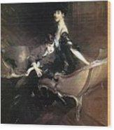 Boldini Giovanni Consuelo Duchess Of Marlborough With Her Son Ivor Spencer Churchill Giovanni Boldini Wood Print