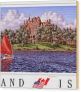 Boldt's Castle Poster Wood Print