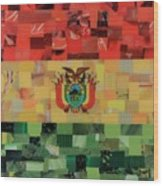 Bolivia Flag Wood Print