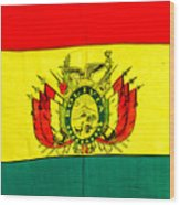 Bolivian Flag Wood Print