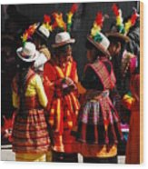 Bolivian Typical Costume Wood Print
