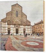 Bologna, Italy San Petronio Basilica Facade Crescentone Wood Print