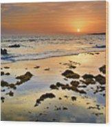 Bolonia Beach II Wood Print