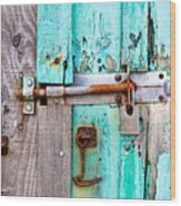 Bolted Door Wood Print