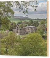 Bolton Abbey In Spring Wood Print