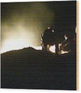 Bomb Crater Kandahar Wood Print
