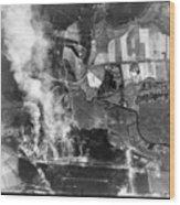 Bomb Strike Wood Print