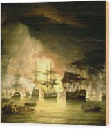 Bombardment Of Algiers Wood Print