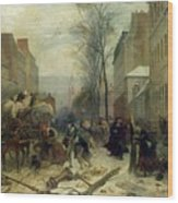 Bombardment Of Paris In 1871 Wood Print
