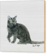 Bombay Cat Wood Print