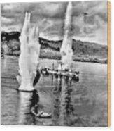 Bomber Attack Wood Print