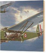 Bombers Farman 222 In Fighting Evening Flight. Wood Print