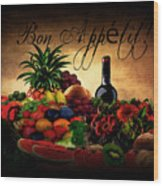 Bon Appetit Wood Print by Lourry Legarde