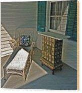 Bon Secour Lounge On The Porch Wood Print
