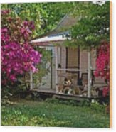 Bon Secour Pink Porch Wood Print