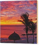 Bonaire Sunset 1 Wood Print