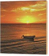 Bonaire Sunset 4 Wood Print