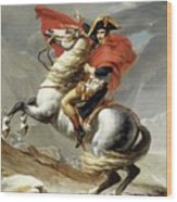 Bonaparte Crossing The Alps Wood Print