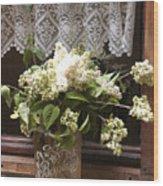Bonbons White Hydrangeas France Wood Print
