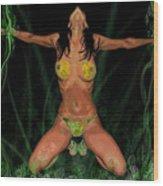 Bondage In Eden Wood Print