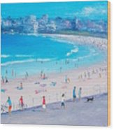 Bondi Beach Summer Wood Print