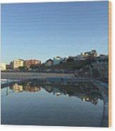 Bondi Wading Pool Reflections Wood Print