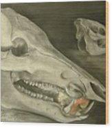Bone Appetit Wood Print