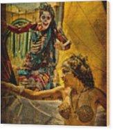 Bones In Hot Pursuit Wood Print