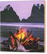 Bonfire On The Beach, Point Of The Wood Print