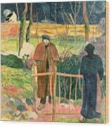 Bonjour Monsieur Gauguin Wood Print