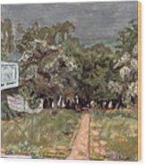 Bonnard: Balcony, 1909-10 Wood Print