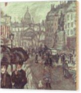 Bonnard: Place Clichy, C1895 Wood Print