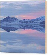 Bonneville Lake Wood Print
