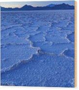 Bonneville Salt Flats At Dusk Wood Print
