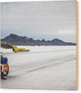 Bonneville Speed Week 2012 Wood Print by Holly Martin