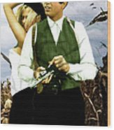 Bonnie And Clyde Wood Print