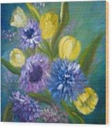 Bonnie Bouquet Wood Print
