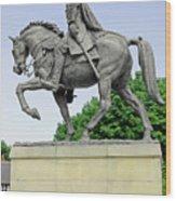Bonnie Prince Charlie Statue - Derby Wood Print