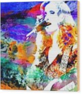 Bonnie Raitt Color Splash Wood Print