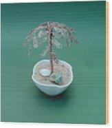 Bonsai Wire Tree Sculpture      Wood Print