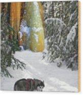Boofies Great Adventure Wood Print