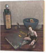 Book Brownie Wood Print