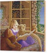 Book Club Wood Print