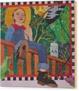 book illustration - Tom Sawyer Wood Print