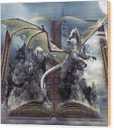 Book Of Fantasies Wood Print