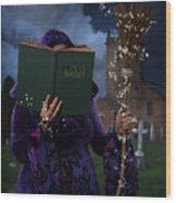 Book Of Magic Spells Wood Print