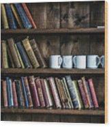 Book Shelf Wood Print