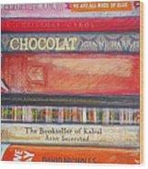 Book Stack II Wood Print